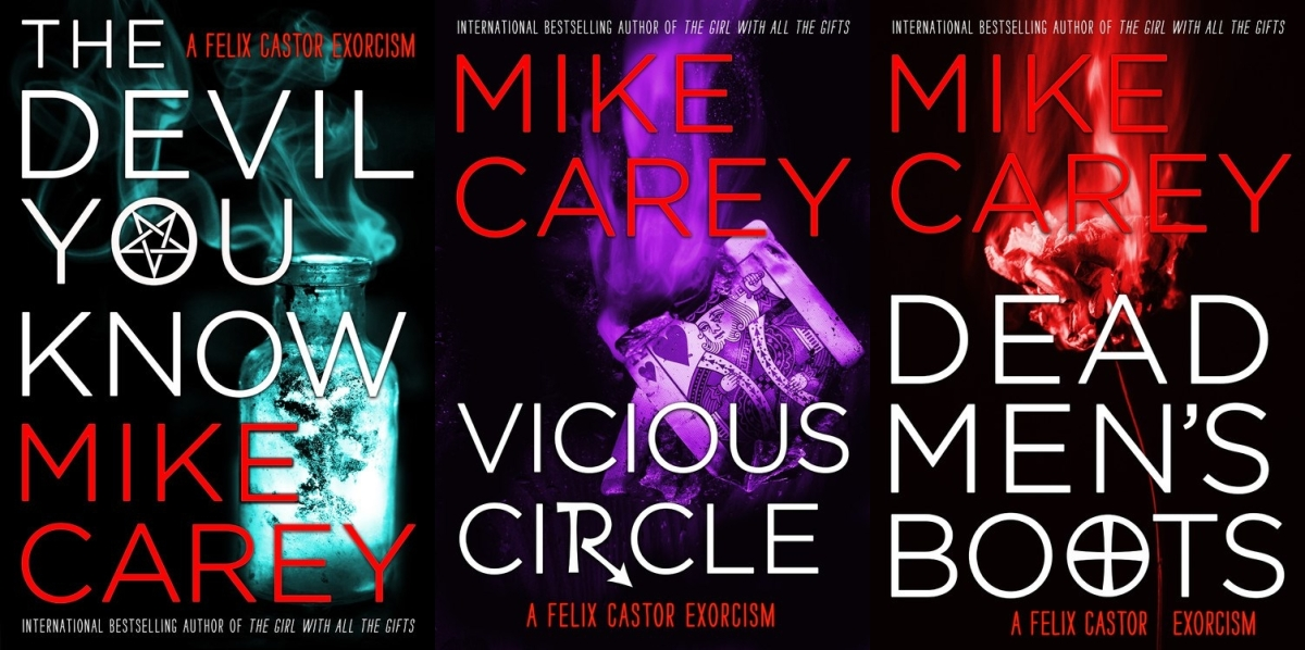 Upcoming: FELIX CASTOR SERIES by Mike Carey (Re-Issues, Orbit)
